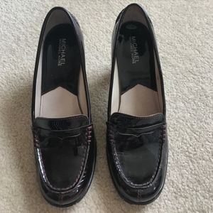 High-heeled Penny Loafers